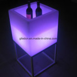 판매를 위한 플라스틱 재사용할 수 있는 아이스 큐브 LED 바 가구