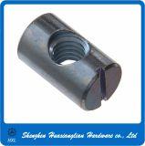 Acier inoxydable/baril cylindrique fendue en laiton traverser l'écrou du trou pour broche