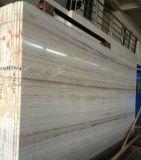 Élégant en bois Serpeggiante carreaux de marbre blanc cristal de billes de bois de prix