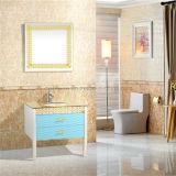 Vanité profonde de salle de bains de PVC de Cabinet de salle de bains de Brown/12 pouces