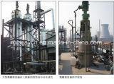 Macchina di raffreddamento utilizzata Agitated su efficiente di depurazione di olio dell'evaporatore rotativo della strumentazione di distillazione sotto vuoto del distillatore della pellicola sottile di Tfe