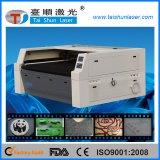Tela de feltro da velocidade rápida 110W e máquina de estaca do laser dos símbolos da borracha