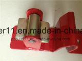 Loquet vérouillable bi-directionnel de grille de grille de matériel convenable en acier de frontière de sécurité