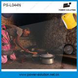 Lampada solare portatile della batteria di litio LED con il carico del telefono (PS-L044N)