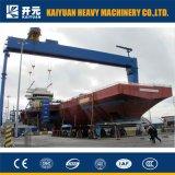 Guindaste de pórtico flexível da construção naval do pé de 500 toneladas com grua da manutenção
