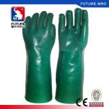 Guantes certificados Ce resistente ácido resistente a sustancias químicas del PVC de los guantes del petróleo del álcali
