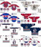 Customized Homens Mulheres Crianças Liga de Hóquei Americana Hamilton Bulldogs 1996-2012 Hóquei no Gelo Jersey