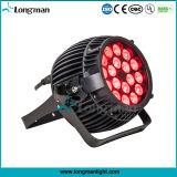 防水LED Parcan 18*10W RGBW 4in1の段階LEDの同価ライト