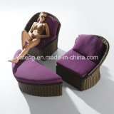 高品質の庭の倍のソファーの腰掛けとセットされる一定の藤のソファー