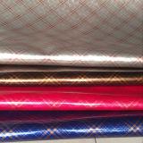 Teste sintético PU Leather Check para saco, bolsa