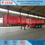 측벽 이동할 수 있는 콘테이너 화물 수송기 트럭 반 40FT 평상형 트레일러 트레일러
