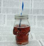 Il vaso di muratore di vetro variopinto di alta qualità con le maniglie comercia