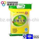 Stratifiés PA L'emballage plastique sac de riz avec trou de la poignée