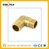 真鍮の管継手のアダプター90の程度1/8  1/4の 3/8の 1/2 のBsp管の肘付属品のカプラー