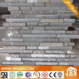 Mosaico de resina de prata e vidro branco fosco Mosaic (M855091)