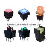 Unipolaires 12 mA momentanée de commutateur à bouton poussoir lumineux