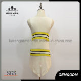 Одежда безрукавный связанных Striped hi-Lo женщин рубчика