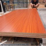 Grano de madera 15mm frente melamina aglomerado de partículas/Lipping