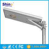 Lámpara de calle al aire libre solar monocristalina ligera del silicio 15W del LED