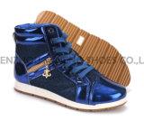Ботинки PU отдыха ботинок женщин с веревочкой Outsole Snc-55014