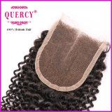 赤ん坊の毛のバージンのブラジルのRemyの毛の完全なレースの閉鎖が付いている熱い販売のアフリカのねじれた巻き毛の安いボヘミアの人間の毛髪のレースの閉鎖