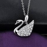 Collar cristalino del colgante del cisne de Costumejewelry de la aleación caliente de la venta