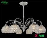 Iluminação de cristal do candelabro/pendente das luzes da alta qualidade 8 para o quarto de Comference