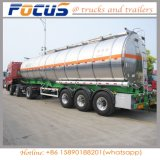 40000L 3 l'essieu carburant/huile en alliage aluminium/diesel pétrolier de transport semi-remorque