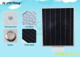 15W integrada inteligente de la calle la luz Solar con batería de litio de 10Ah