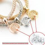 Boom van de Kleur van bergkristallen de Gouden van de Armband van de Charme van het Leven