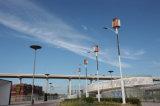 10m 100W turbina eólica LED Lâmpada de Rua Híbrido Solar