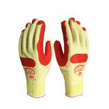 7g /10g Tcの綿の積層物の乳液の建設作業員のための上塗を施してある安全手袋