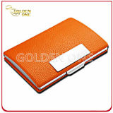 Atacado de alta qualidade de metal PU Leather Business Name Card Holder