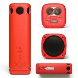 Dom do suporte do telefone celular do alto-falante Bluetooth 8000mAh banco de potência com luz fluorescente