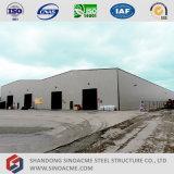 Montaggio della costruzione del magazzino della struttura d'acciaio