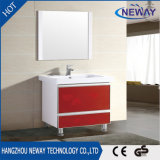 PVC di piccola dimensione del Governo di stanza da bagno del basamento rosso e bianco del pavimento