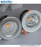 COB LED Downlight encastré dans le dispositif d'éclairage avec pilote de l'atténuateur de marque