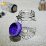 Kruik van het Kruid van het Glas van de Organisator van de keuken de Kleine Vierkante Duidelijke
