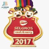 2017 연약한 사기질을%s 가진 아연 합금 주물 스포츠 금속 메달 Medallas를 주문을 받아서 만드십시오