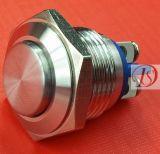 Interruptor pulsador de acero inoxidable (16mm)