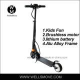 子供100W 120WのためのWeigt軽いアルミニウムフレームのFoldable電気Eスクーター