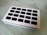 Белая акриловая коробка кольца с черной тканью