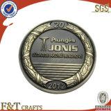 Kundenspezifische Münzen-Hersteller-Großverkauf-Metallantike-Herausforderungs-Münzen-Andenken-Münze