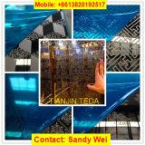 El espejo azul negro de Rose del oro de PVD grabó al agua fuerte la hoja de acero inoxidable 304 201 316