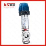 Válvula de borboleta de grau alimentar de aço inoxidável C - C com unidade de ar vertical