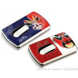Hand Push Type Business Card Holder, Soft Enamel Business Card Holder
