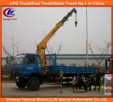 6 carro montado grúa del camión del policía motorizado 5ton Dongfeng con la grúa