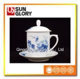 Чашка Китая косточки с крышкой GB022