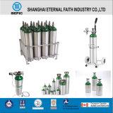 17e válvula de rosca da sonda de oxigénio Médicos Portáteis pequenos cilindros de gás de alumínio