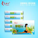 Pakket 10 van Idividual Natuurlijke Kruiden Organische Vrouwelijke Nat PCS/Box veegt af